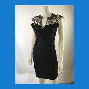 Charlotte Russe black party dress Lace size M (A13